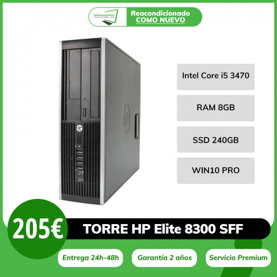HP Elite 8300 SFF i5 -...
